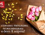 Warm greetings with Women's Day!