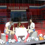 выставочный стенд, decoration of the promo-container for football union of russia